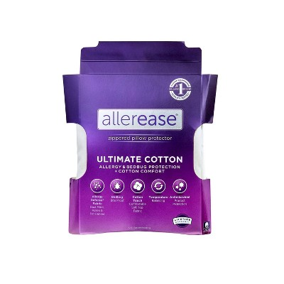 AllerEase Ultimate Comfort Breathable Pillow Protector-White (King)