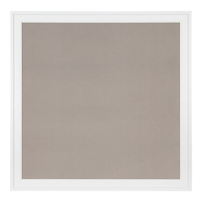 "31.5"" x 31.5"" Bosc Framed Linen Fabric Pinboard Gray/White - DesignOvation"