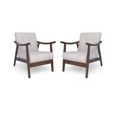 Set of 2 Chabani Mid-Century Modern Accent Chair - Christopher Knight Home