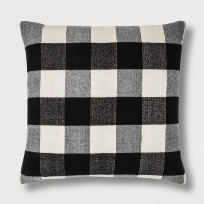 Check Oversize Square Throw Pillow Black/White - Threshold™