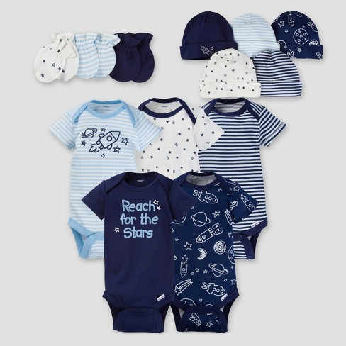 "Gerber® Boy 13pc Cosmic ""Reach for the Stars"" Layette Gift Set, size 0-3m - image 1 of 11"