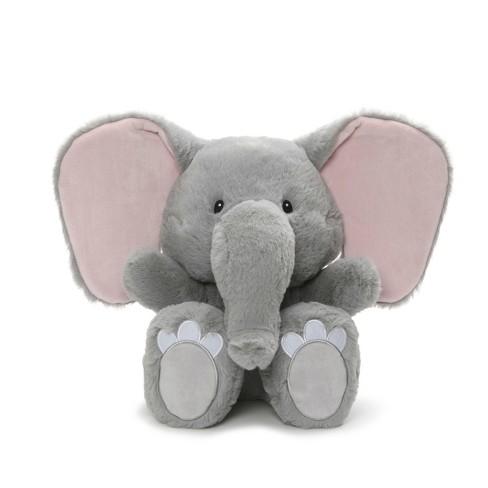 G By Gund Silly Pawz Elephant Plush Stuffed Animal Gray And Pink 12