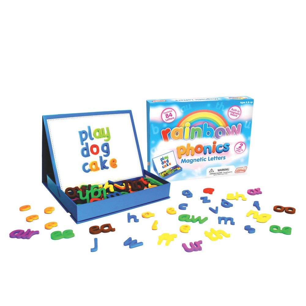 Image of Junior Learning Rainbow Phonics Magnetic Letters & Built-in Magnetic Board