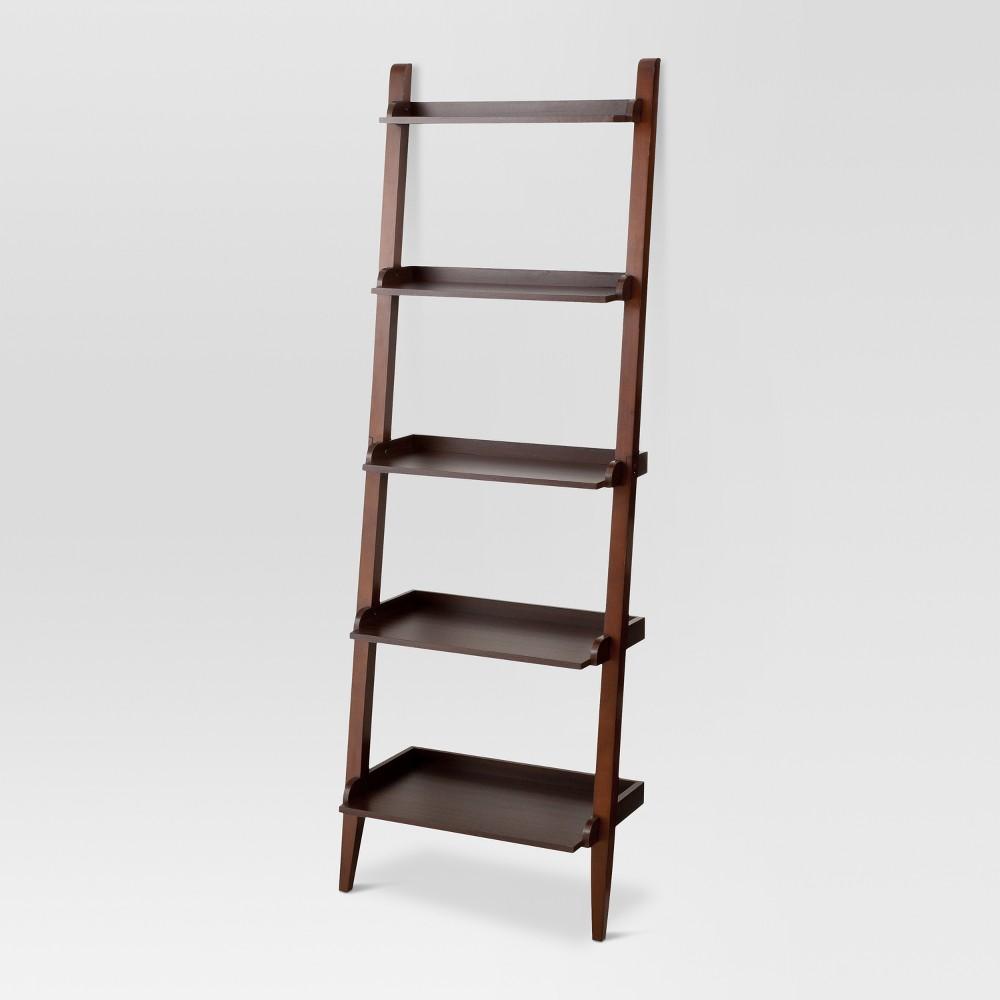 72 Carson Leaning Bookcase - Espresso (Brown) - Threshold