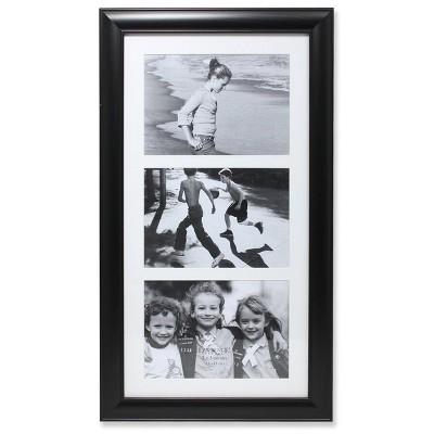 "5""x7"" Triple Matted Black Collage Frame - Lawrence Frames"