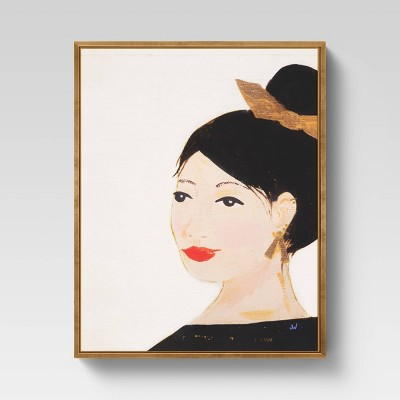 "16"" x 20"" Marama Flutter Framed Printed Canvas - Opalhouse™"
