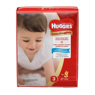 Huggies Little Snugglers Diapers Jumbo Pack - Size 3 (27ct )