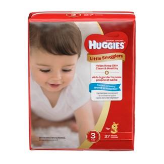 Huggies Little Snugglers Diapers Jumbo Pack - Size 3 (27ct )