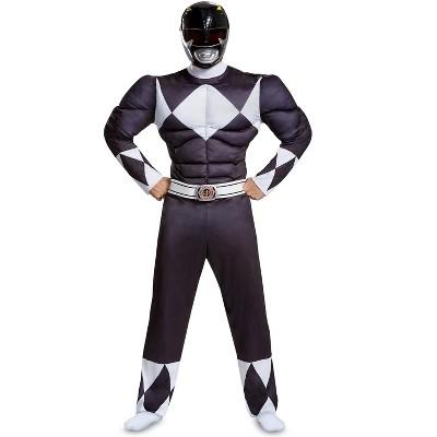 Power Rangers Black Ranger Classic Muscle Adult Costume