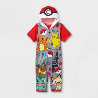 Boys' Pokemon Pajama Romper - Red