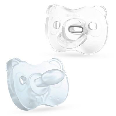 Medela Baby Soft Silicone Pacifier - Blue 0-6 Months 2pk