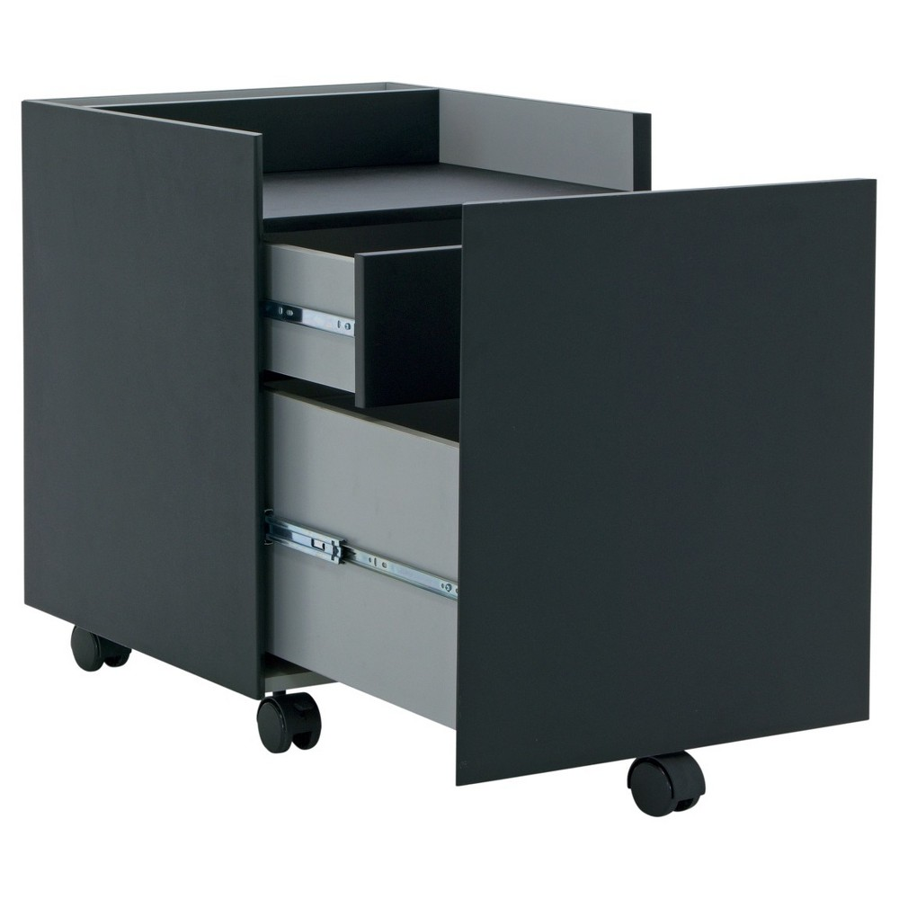 Niche Mobile File Cabinet with 2 Locking Drawers - Black - Calico Designs