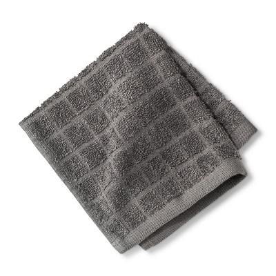 Grid Texture Washcloth Dark Gray - Room Essentials™