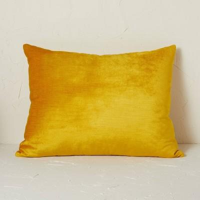 "20"" x 26"" Standard Vintage Velvet Decorative Throw Pillow Gold - Opalhouse™ designed with Jungalow™"