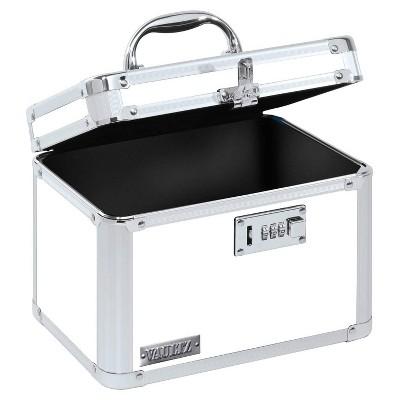 Vaultz Personal Storage Box with Combination Lock - White