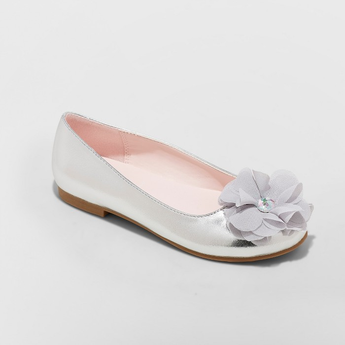 Girls' Flowers by Nina Muriel Dressy Ballet Flats - image 1 of 3