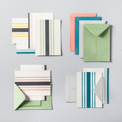 Striped Notecard Set (12ct)- Hearth & Hand™ with Magnolia