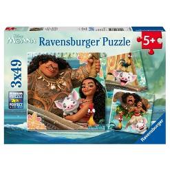 Ravensburger Disney Moana: 3pk Born To Voyage Puzzles 147pc