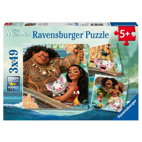 Ravensburger Disney Moana: Born to Voyage - 3 x 49pc Puzzles in a Box - image 1 of 4