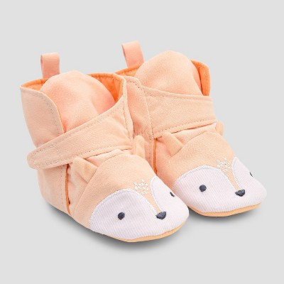 Baby Fox Crib Shoes - Cloud Island™ Orange 3-6M