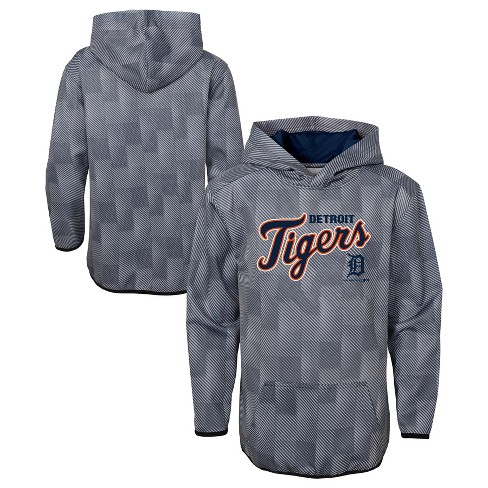 outlet store e6d3e 08e56 MLB Detroit Tigers Boys' First Pitch Gray Poly Hoodie