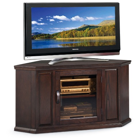 "46"" Corner TV Stand - Chocolate Oak Finish - Leick Home - image 1 of 1"