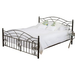 Christopher Knight Home Brassfield Queen Sized Iron Bed - Copper Gold