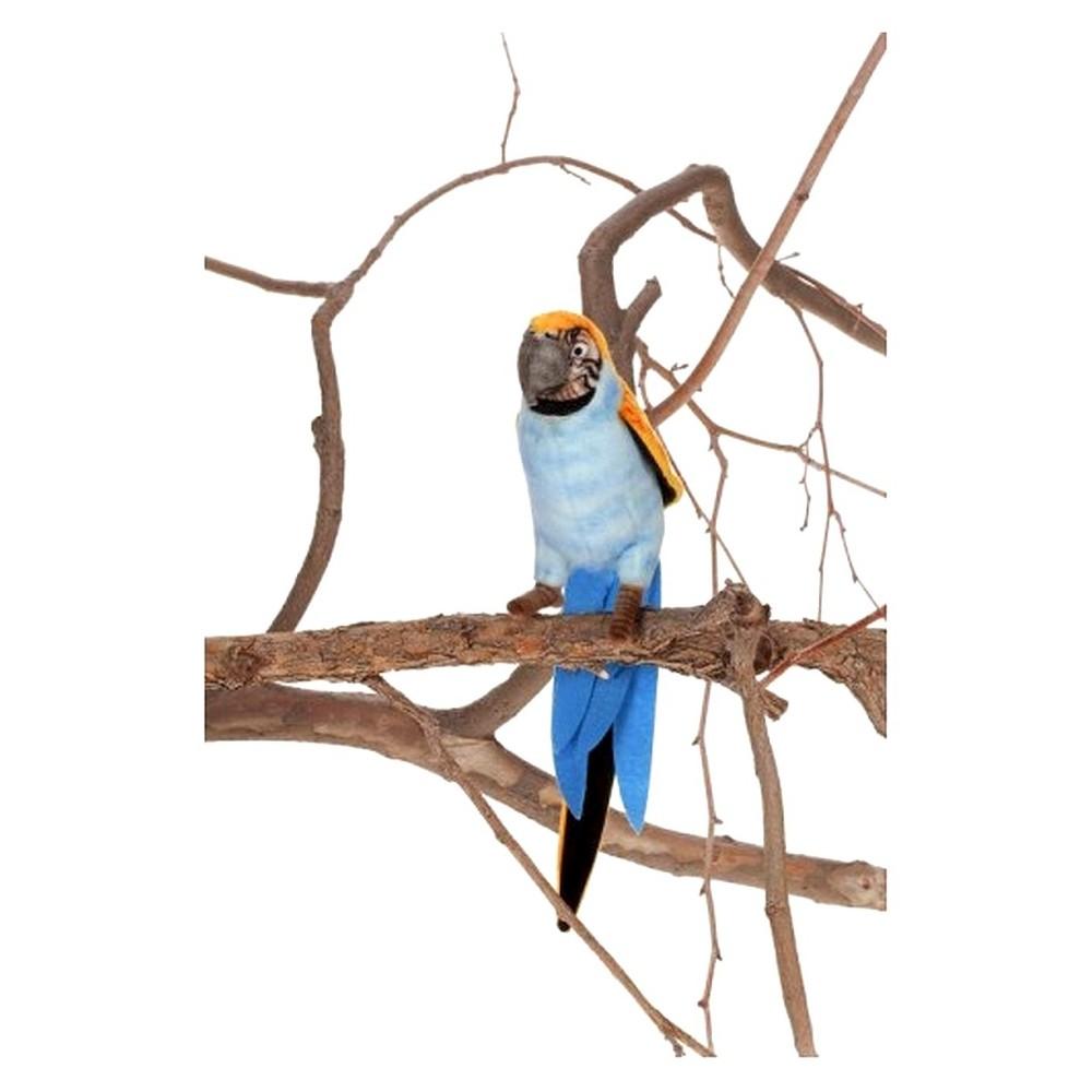 Hansa Parrot Plush Animal - Blue/Yellow