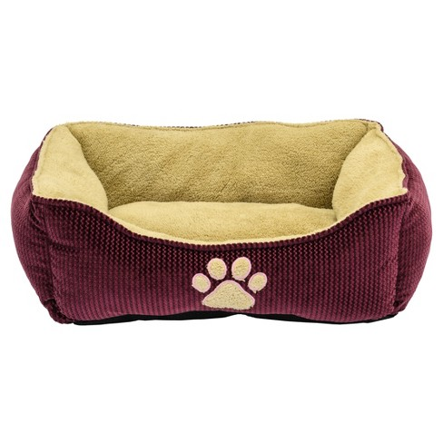 "Dallas Mfg. Pet Box Bed - Burgundy - 21""x25"" - image 1 of 1"