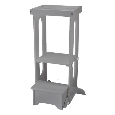 """Little Partners Explore """"N Store Silver Drop Learning Tower"""