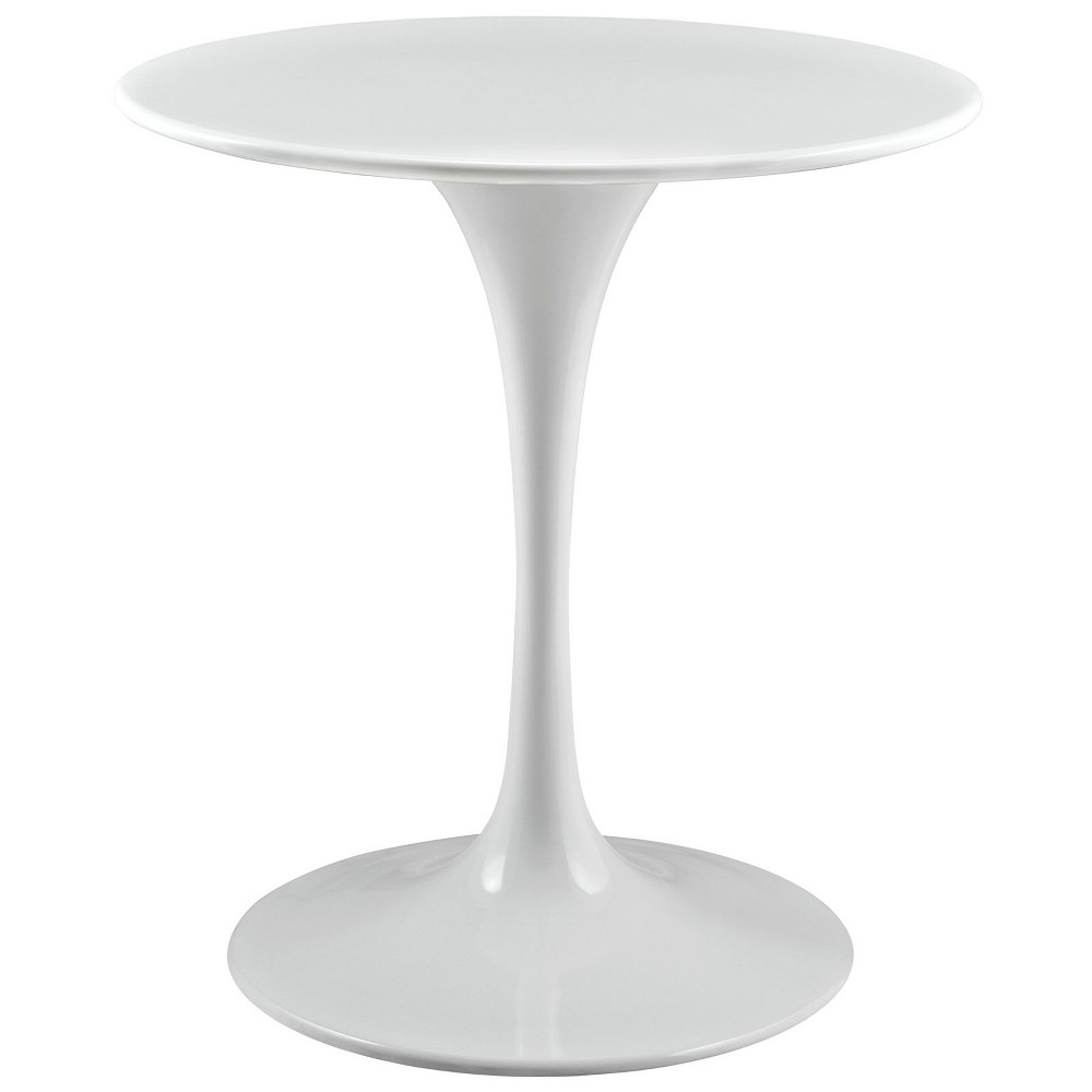 Lippa 28 Round Wood Top Dining Table White - Modway