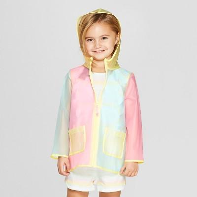 Toddler Girls' Solid Rain Coat - Cat & Jack™ 2T