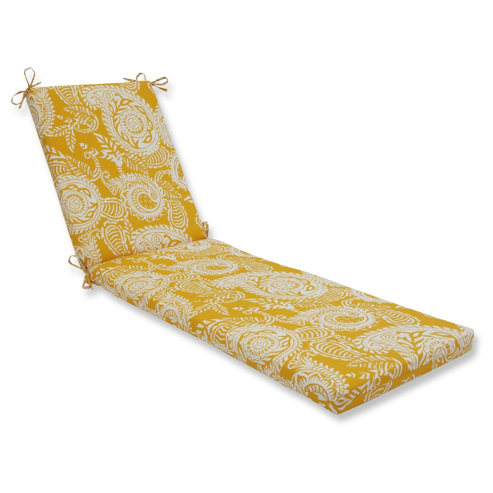 Outdoor/Indoor Addie Yellow Chaise Lounge Cushion - Pillow Perfect