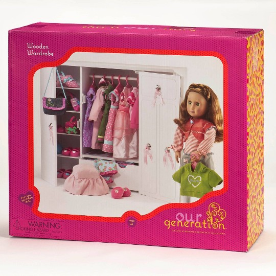 "Our Generation Wooden Wardrobe - Closet for 18"" Dolls image number null"