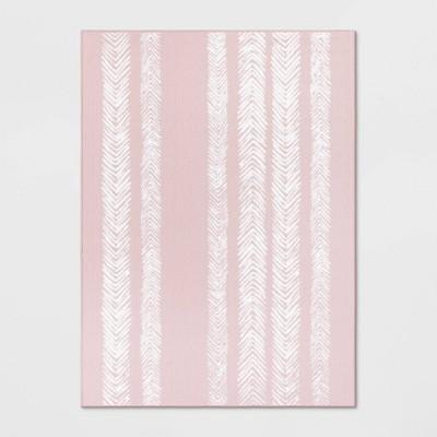 4'X5'6  Stripe Tufted Accent Rug Blush - Room Essentials™