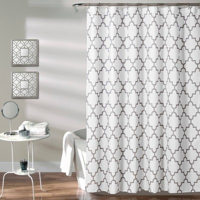 Geometric Shower Curtain Gray - Lush Décor