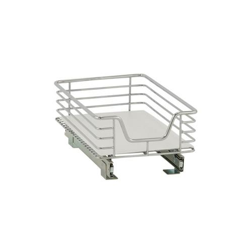 "Design Trend 1-Tier Single Basket Under - Cabinet Organizer 11.5"" Standard Depth Chrome - image 1 of 7"