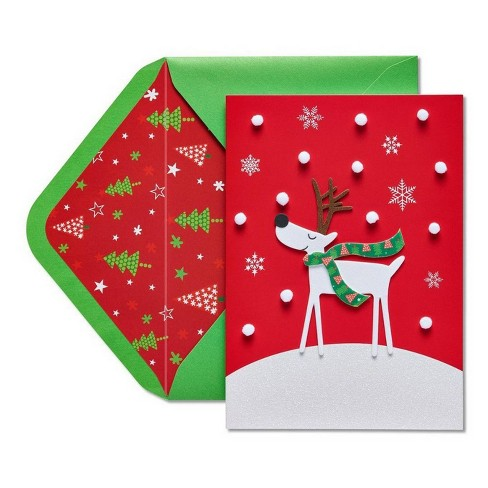 Papyrus Christmas Cards.Reindeer Christmas Greeting Card Papyrus