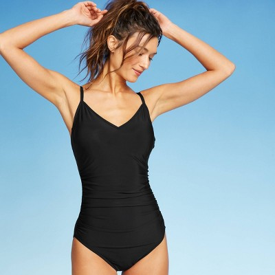 Women's Ring Back One Piece Swimsuit - Aqua Green® Black