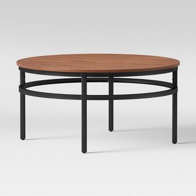 Ellsworth Wood/Metal Coffee Table - Threshold™