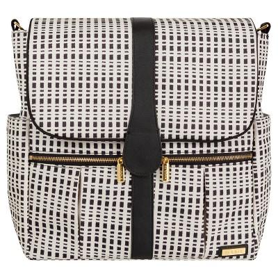JJ Cole Backpack Diaper Bag, Black and Cream