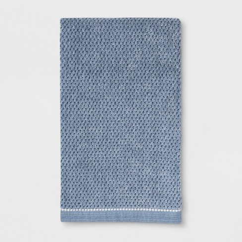 Solid Bath Towels Blue - Threshold™ - image 1 of 1