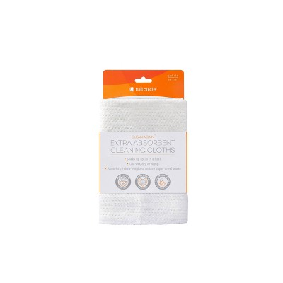 Full Circle Clean Again Extra Absorbent Cleaning Cloths Paper Towels - White - 2ct