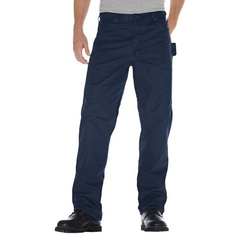 0661411f Dickies® Men's Relaxed Straight Fit Sanded Duck Canvas Carpenter Jean- Dark  Navy 30x30 : Target