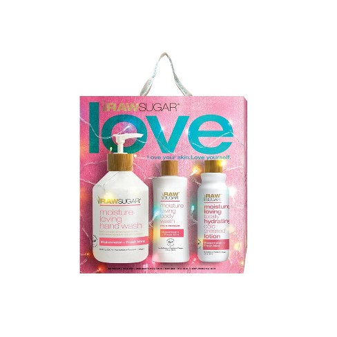 Raw Sugar Hand Wash Watermelon Fresh Mint Gift Set - 3pc - image 1 of 4