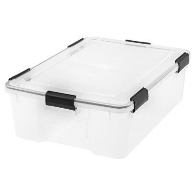 IRIS 41qt Weathertight Storage Bin Clear