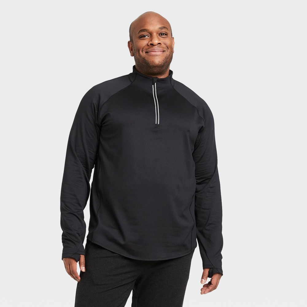 Men's Premium Layering Quarter Zip Pullover - All in Motion Black M was $30.0 now $18.0 (40.0% off)