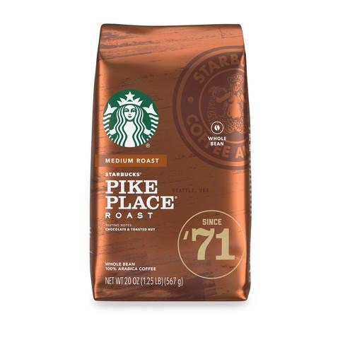Starbucks Pike Place Medium Roast Whole Bean Coffee - 20oz - image 1 of 3