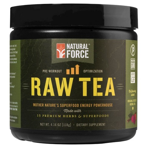 Natural Force Raw Tea Organic Pre-Workout Powder - Herbal - 4.16oz - image 1 of 1