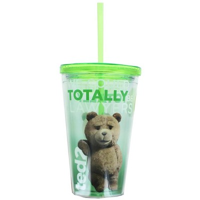 """Just Funky Ted 2 """"Lawyers"""" 18oz Carnival Cup w/ Lid and Straw"""